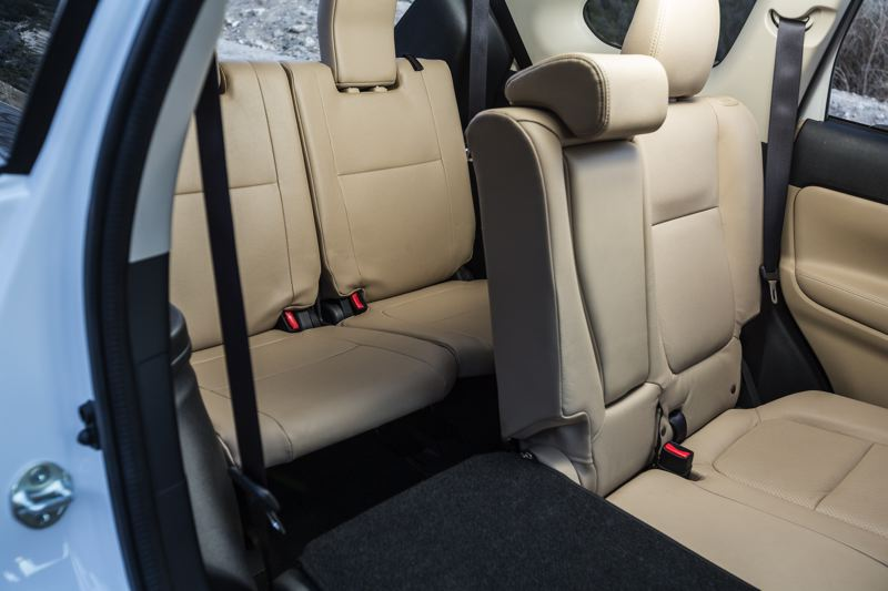 COURTESY MITSUBISHI - The 2018 Mitsubishi comes with three rows of seats, but the last is best reserved for children.