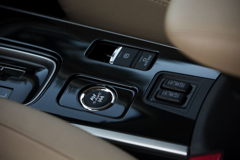 COURTESY MITSUBISHI - Mitsubishi's acclaimed Super All-Wheel Control system is activited by pushing a button on the center console.