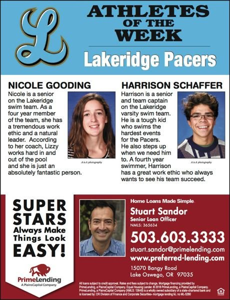 (Image is Clickable Link) Feb. 8, 2018 - Lakeridge Athletes of the Week