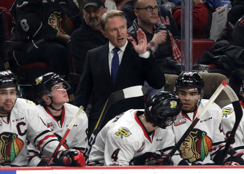 TRIBUNE PHOTO: JONATHAN HOUSE - Coach Mike Johnston and the Portland Winterhawks are on a winning streak but could use some rest, which they'll get after a Wednesday home game against the Vancouver Giants.