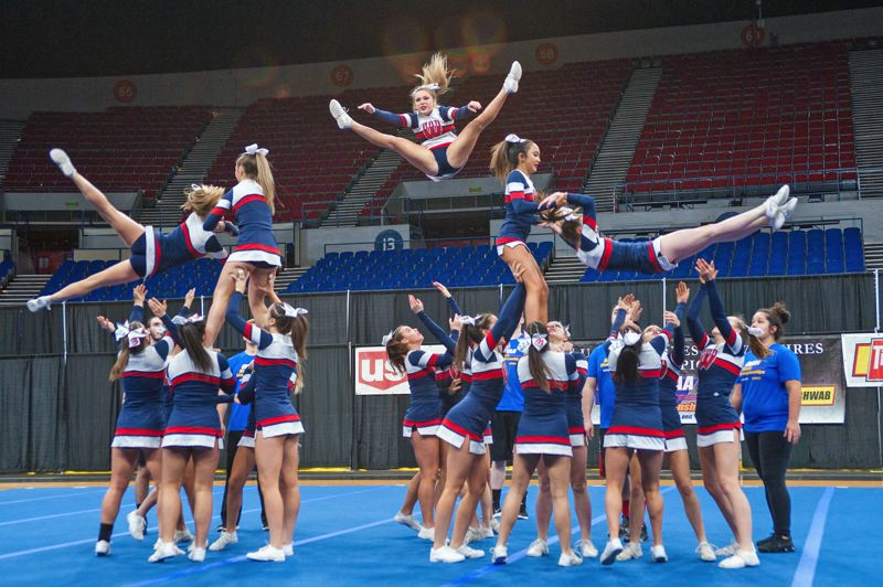 PAMPLIN MEDIA GROUP PHOTO: DIEGO G. DIAZ - The Westview Cheer squad one its eight statewide title this past weekend.