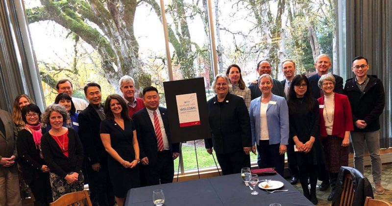 COURTESY PHOTO: PACIFIC UNIVERSITY - The Eyeis Group visited Pacific University in November 2017. The university is working to address nearsightedness with a number of Chinese partners.