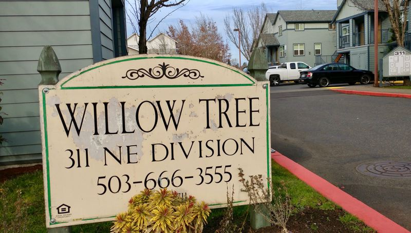 OUTLOOK FILE PHOTO - A couple living in Greshams Willow Tree apartments has filed a lawsuit because of high electricity bills and problems with mold.