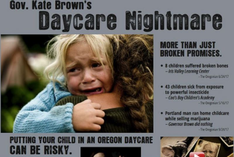 FILE PHOTO - The website attacking Gov. Kate Brown.