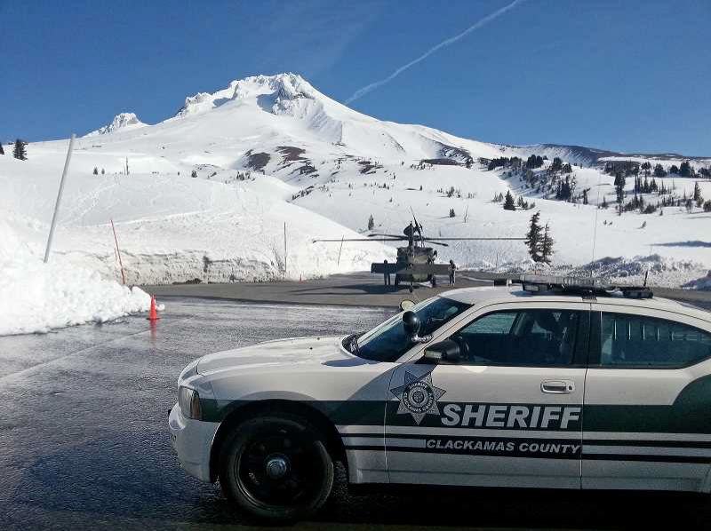 CONTRIBUTED PHOTO: CLACKAMAS COUNTY SHERIFF'S OFFICE - Clackamas County Sheriff's deputies and members of the Mountain Wave Search and Rescue team are still searching for eight people stranded on Mount Hood.