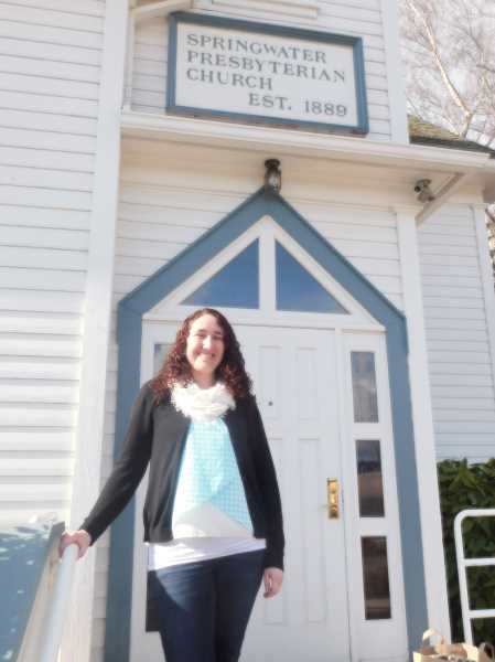 ESTACADA NEWS PHOTO: EMILY LINDSTRAND - Jennifer Souders, a lifelong member of Springwater Presbyterian Church, will attend Fuller Theological Seminary this fall. She hopes to spend her career working with children.