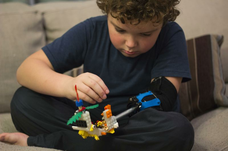 COURTESY: AUTODESK - It's a Lego arm modeled and used by Aidan Robinson.