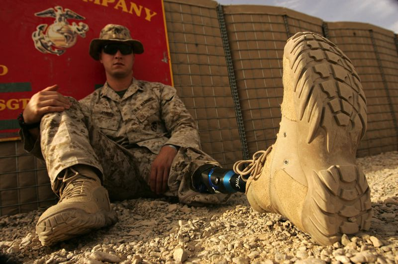 COURTESY: SGT. RAY LEWIS - There are improved prosthetics for military personnel, such as U.S. Marines Corporal Garrett S. Jones.