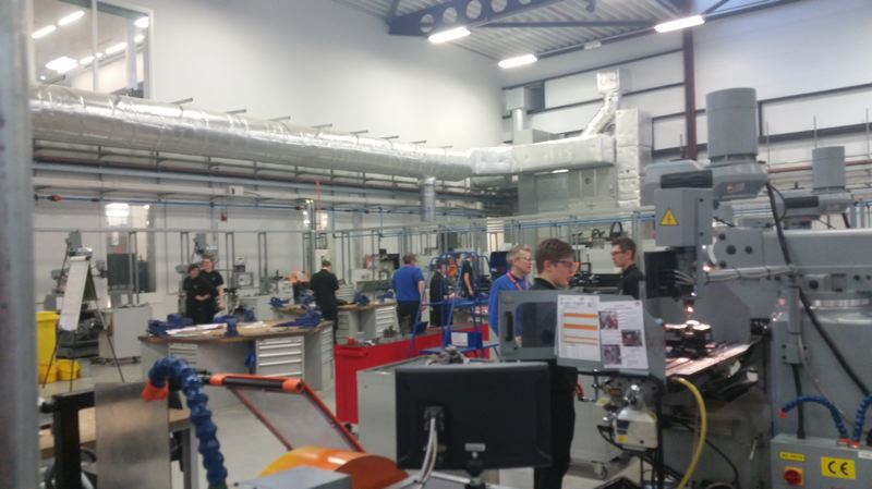 PHOTO COURTESY OF SCOTT BURGE - A photo taken during a 2016 trip to the Advanced Manufacturing Research Centre in Sheffiled, England shows a multi-level building full of robotics and engineering activity.