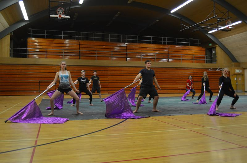 Pamplin Media Group St Helens Winter Guard Warming Up For Home