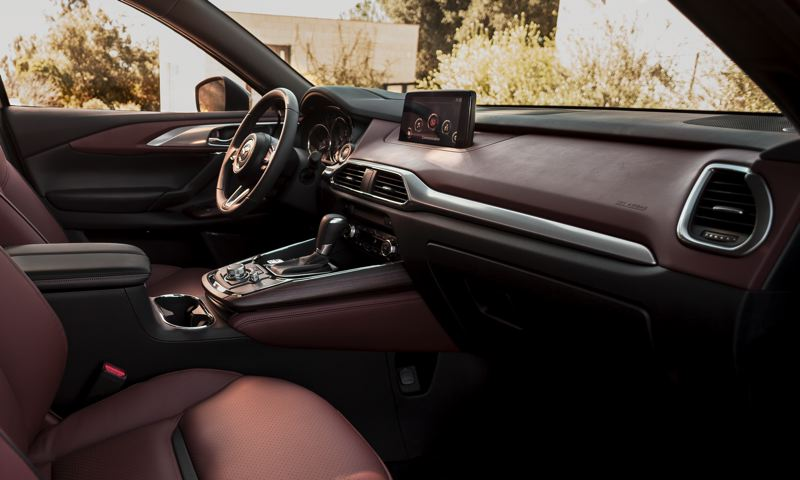 COURTESY MAZDA - The interior of the 2018 Mazda CX-9 us simple but elegant.