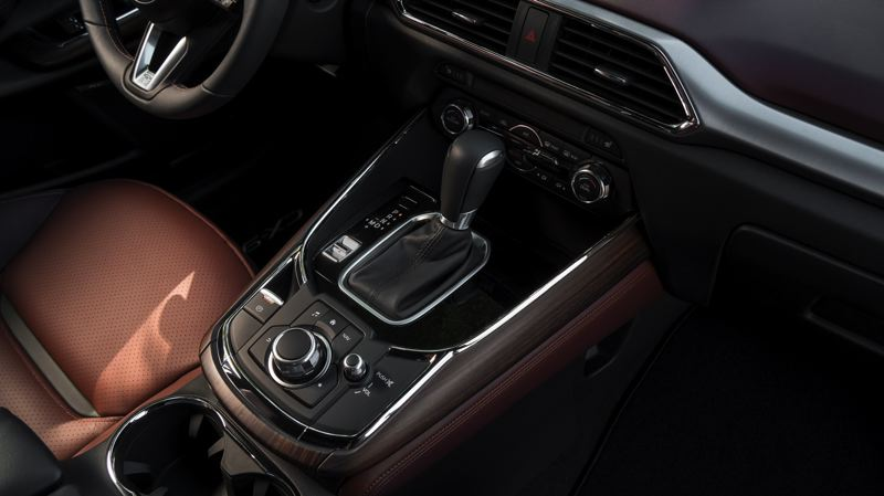 COURTESY MAZDA - Many functions in the 2018 Mazda CX-9 are handled through the easy to use knob on the center console.
