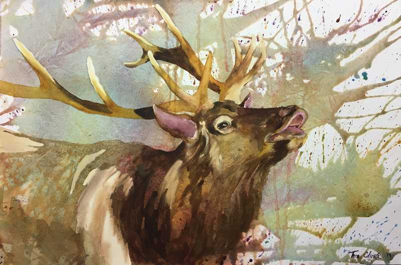 Works such as this will be on display at the Canby Public Library through March.