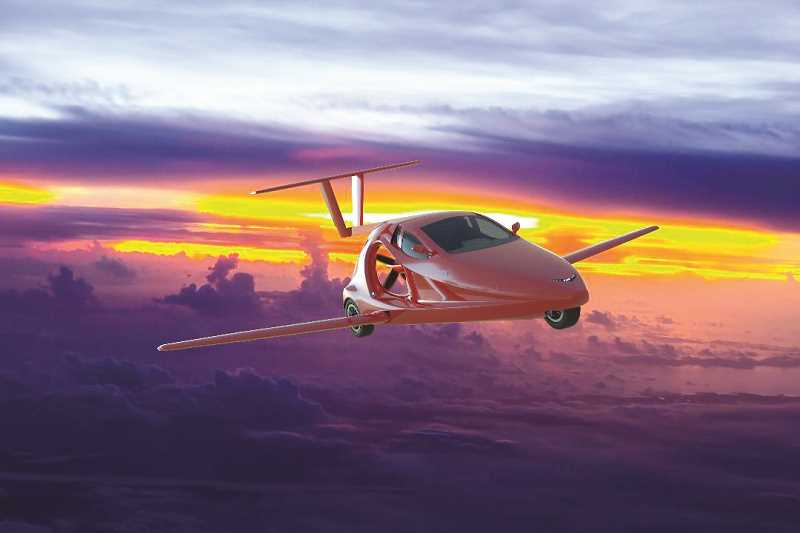ARTWORK CONTRIBUTED BY SAMSON SKY  - An artist rendering shows what the Switchblade would look like in flight.