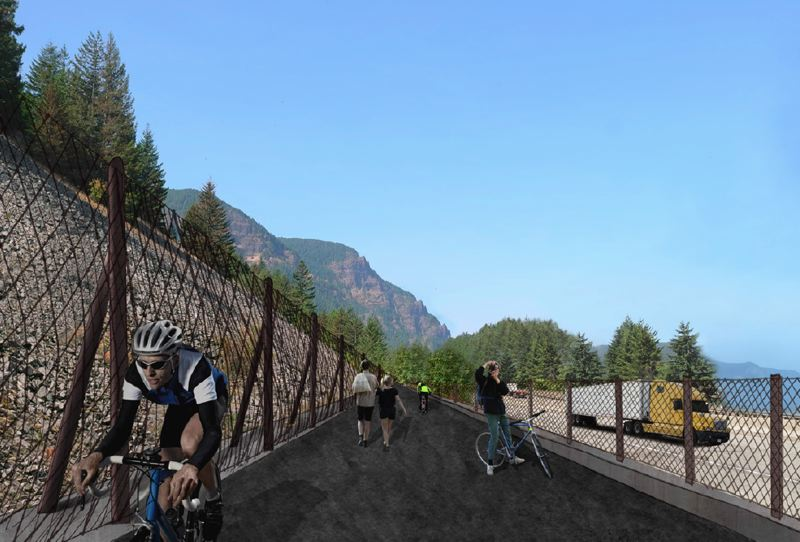 CONTRIBUTED PHOTO - Cyclists sweat through the Shelllrock Mountain crossing in this rendering.