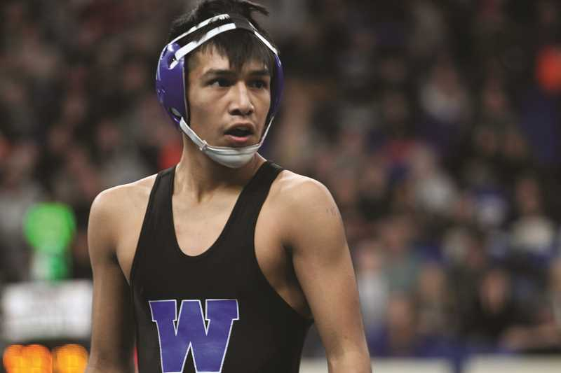 PHIL HAWKINS - Woodburn sophomore Wesley Vasquez gave the Bulldogs their first state finalist since 2008 after placing second in the 113-pound bracket of the 2018 State Wrestling Championships.