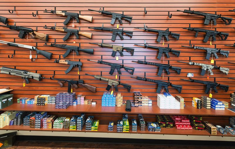 STAFF PHOTO: CHRISTOPHER OERTELL - In the wake of yet another senseless school shooting, this one in Parkland, Fla., we believe it is high time to have a serious discussion about how to keep semi-automatic weapons like these out of the hands of people who will use them for slaughter.