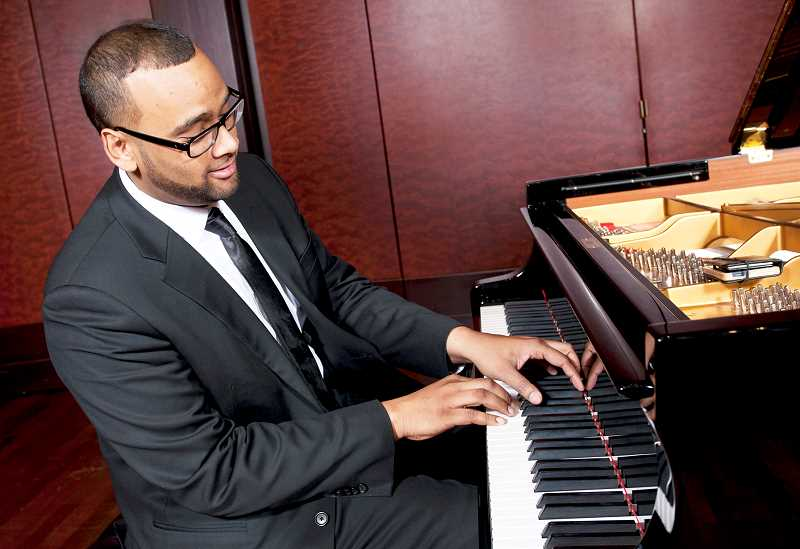 PHOTO COURTESY OF GFU - Pianist Mikael Darmaine will provide the music as actor Dracyn Blount portrays multiple characters during the staging of 'Of Ebony Embers: Vignettes of the Harlem Renaissance' on March 3 at George Fox University.