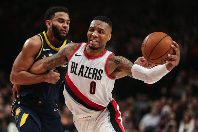 TRIBUNE PHOTO: DAVID BLAIR - Damian Lillard of the Trail Blazers says everyone on the team is bringing the energy and mental approach to be the team 'we want to be.'