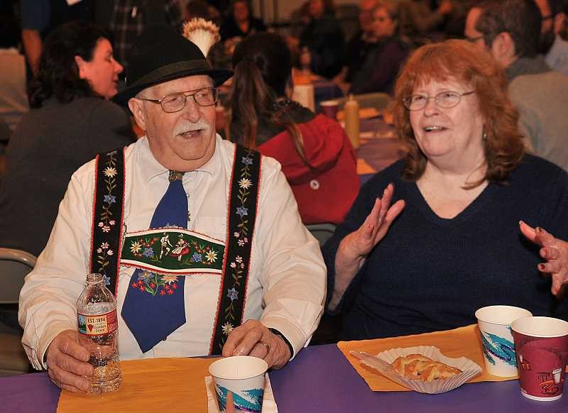Allen and Nancy White enjoy the evening's festivities, which of course included the Chicken Dance.