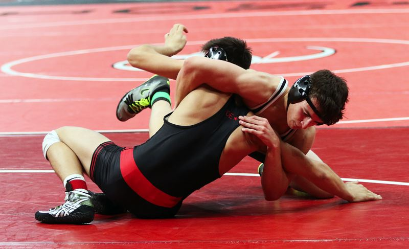 DAN BROOD - Tigard senior Cole McCallister competed at 152 pounds at the Class 6A state tournament.