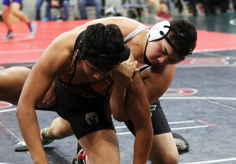 DAN BROOD - Tigard senior Javier Velasquez competed at 285 pounds at the Class 6A state tournament.