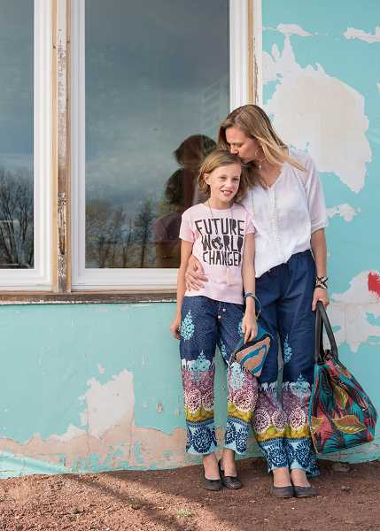 Carrie and Alex Deaver wear Sudara, a line that will be featured in a trunk show from 2-6 p.m. on March 1 at Brave Collective in Lake Oswego.