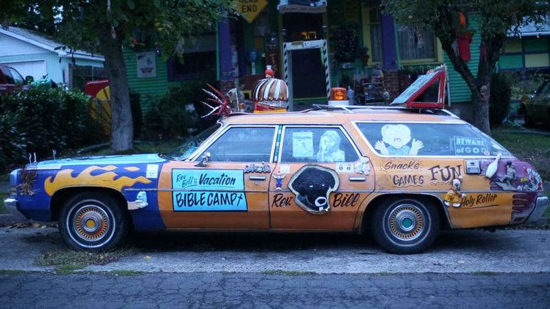 COURTESY: GREG HAMILTON - Filmmaker Greg Hamilton's documentary 'Thou Shall Not Tailgate,' about Rev. Chuck Linville and his 'art cars,' is truly a Portland-centric work.