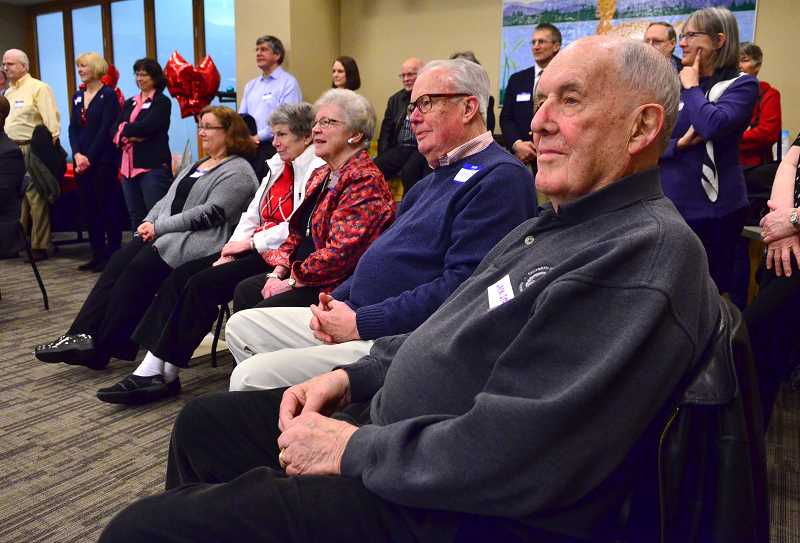 Jack Stowell, right, was among the many donors who were present for the celebration.
