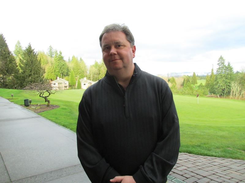 OUTLOOK PHOTO: SHANNON O. WELLS - New Persimmon Country Club owner Mark Swift worked as a golf pro on the Oregon Coast for 17 years before purchasing the Gresham-area landmark in late 2017.