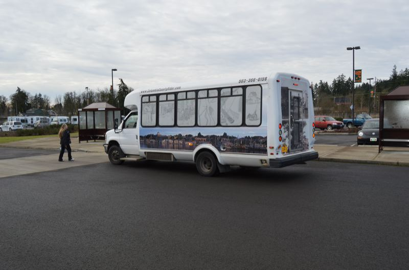SPOTLIGHT FILE PHOTO - A CC Rider bus departs from the transit center in St. Helens. The bus agency is now looking for a new director.