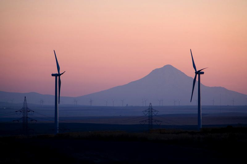PAMPLIN MEDIA GROUP: FILE PHOTO - Pacific Powers Leaning Jupiter wind project is located near Arlington, Ore. PGE figures it will need to rely on wind more than solar for its next wave of renewable energy projects.