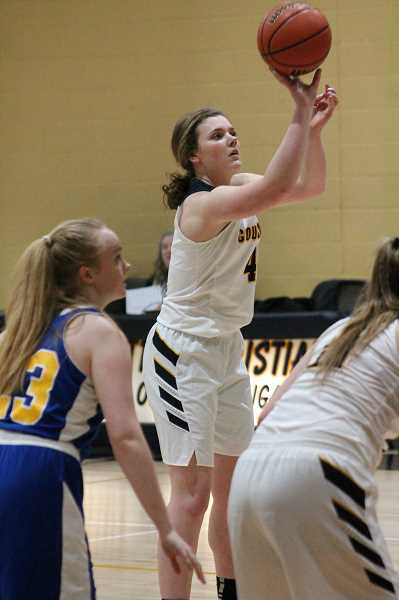 PIONEER PHOTO: CONNER WILLIAMS  - Country Christian senior Mollie Lewandowski was named the Valley 10 League's Most Valuable Player as sheaveraged 16 points and 15 rebounds per league game this season.