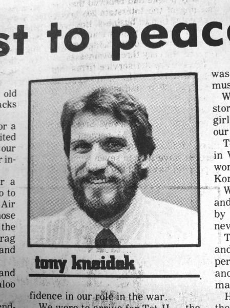 ARCHIVE PHOTO - Tony Kneidek in his photo that accompanied the column he wrote for the Gresham Outlook when he was the newspapers editor in the 1980s.