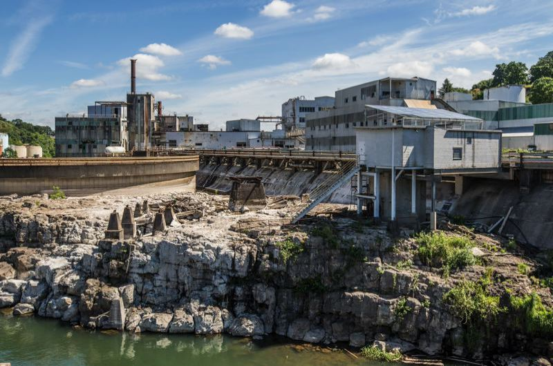 JONATHAN HOUSE - A public riverwalk in front of the old Blue Heron paper mill is delayed, impacting the redevelopment of the area as part of the Willamette Falls Legacy Project.
