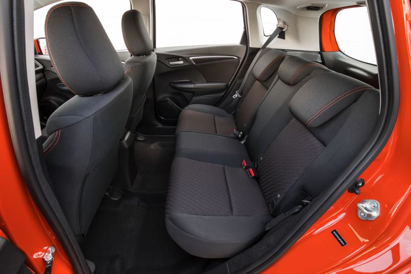 AMERICAN HONDA MOTOR COMPANY - Rear seat room is surprisingly roomy in the 2018 Honda Fit Sport.