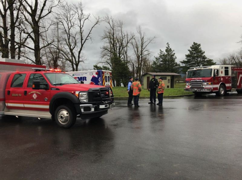 COURTESY CORBETT FIRE - Corbett Fire Department and a Gresham water rescue team were able to save four kayakers from the Columbia River on Feb. 25, 2018.