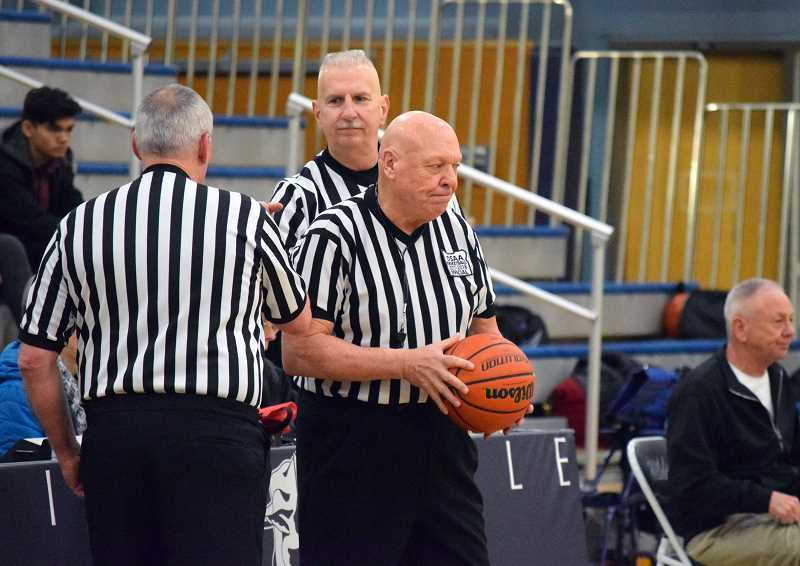 SPOKESMAN PHOTO: TANNER RUSS - Referee Robb Wochnick retires from officiating basketball after 35 years.
