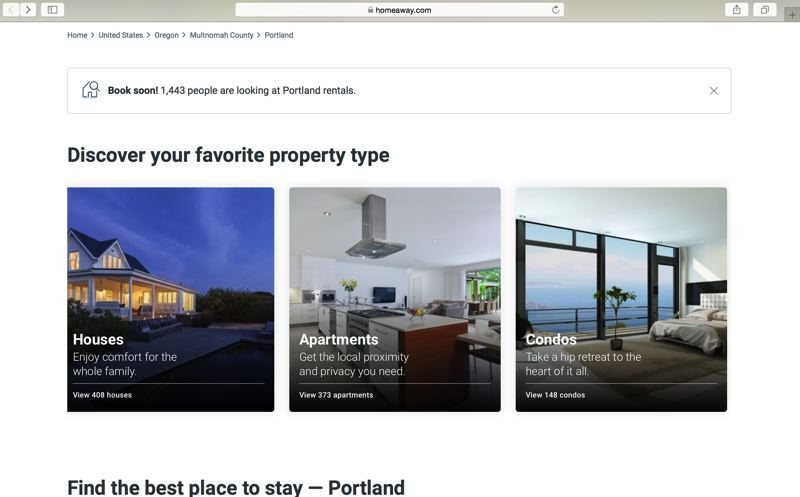HOMEAWAY  - HomeAway's web page for Portland advertises hundreds of short-term rentals, though most of the hosts have never received city permits or undergone home inspections. Under a new legal agreement with the city, those will become legalized, as the city allows the Austin-based company to register its own hosts. In exchange it will start charging city lodging tax for its hosts and guests, and divulge the host names, addresses and contact information.