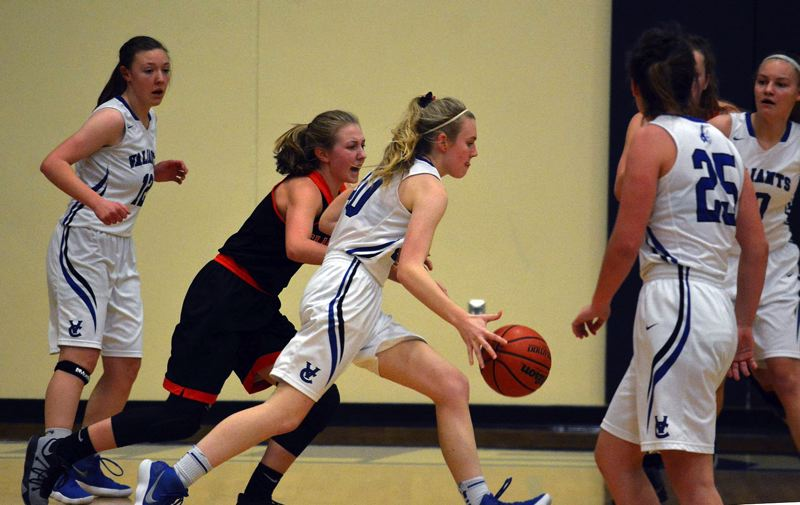 TIMES PHOTO: MATT SINGLEDECKER - Valley Catholic junior shooting guard Katelyn Snook scored a team-high 15 points against Gladstone.