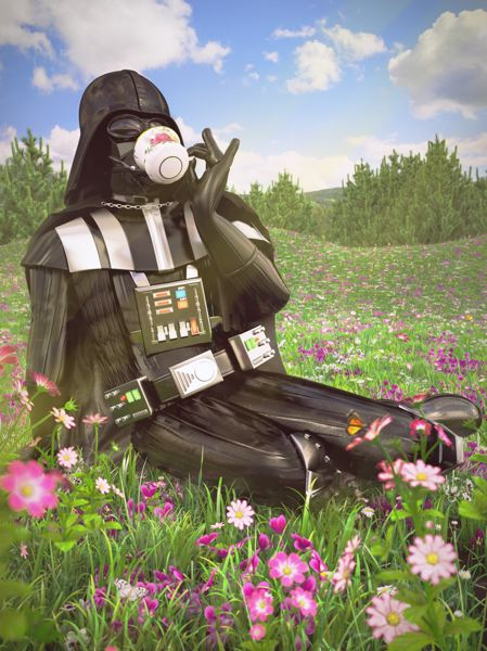 COURTESY: KYLE HAGEY - Artist Kyle Hagey has found that his 'Star Wars' parody images have been popular at Portland Saturday Market, which opens this week. 'I don't think I'll ever get tired of making goofy pictures,' he says.