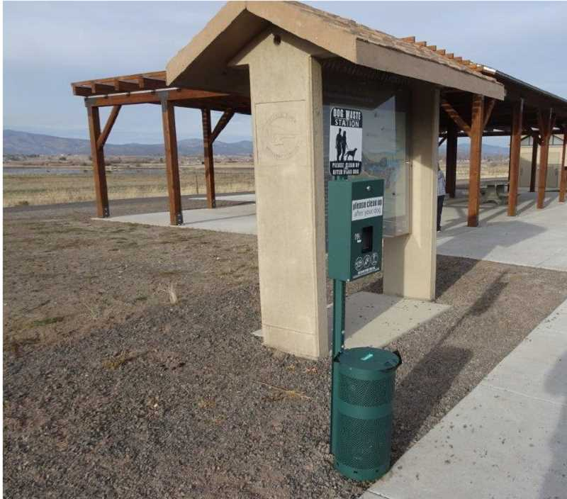 PHOTO SUBMITTED BY MIKE KASBERGER - Crooked River Wetlands Complex features dog waste cleanup stations.