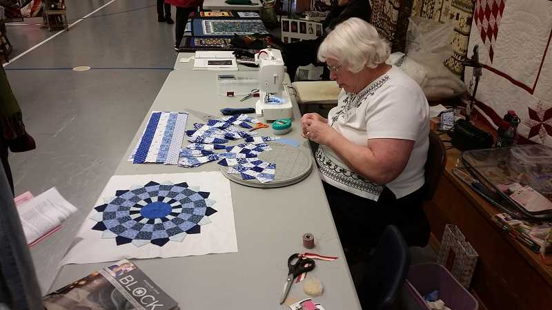 JOHN BAKER - Quilting demonstrations were a big part of this year's Quilting Workshop.