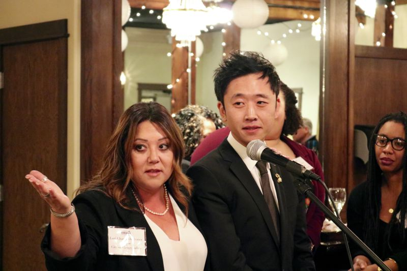 OUTLOOK PHOTO: ZANE SPARLING - Businessman Justin Hwang has earned the support of many prominent Republicans, including Happy Valley Mayor Lori Chavez-DeRemer.