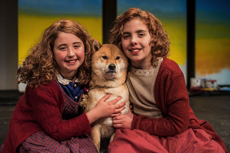 COURTESY PHOTO: KAREN HAWLEY - Ania Vilius, left, and Ellen Horton portray the title character in Eastside Theater Companys upcoming production of Annie.