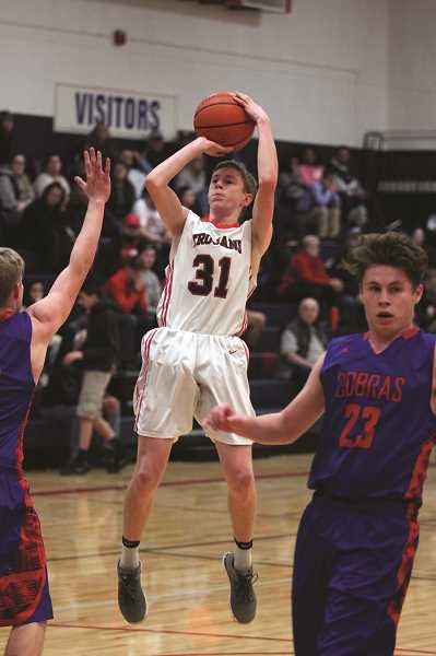 PHIL HAWKINS - File photo: Kennedy sophomore Luke Hall led the Trojans with 14 points in the team's 52-36 win over Pilot Rock on Saturday.