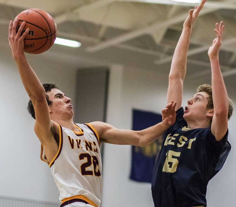 FILE PHOTO: CHASE ALLGOOD - Forest Grove standout point guard Kyle Thompson missed the bulk of this season due to injury, and the Vikings never recovered.