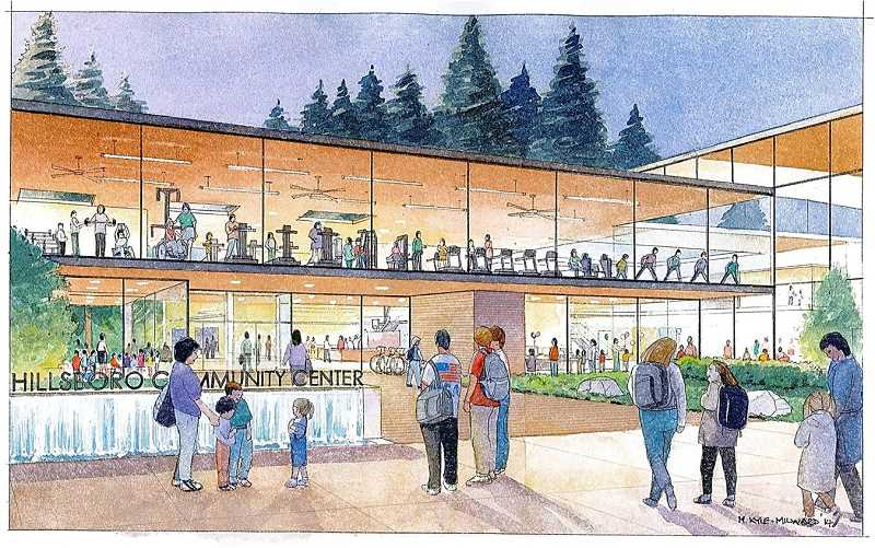 COURTESY IMAGE - City officials have been working on plans for a new community center on 53rd Avenue for more than a decade. The center is expected to finally break ground next year and open in 2021.