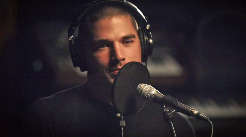 PHOTOS COURTESY CMT NETWORK - Degman in the studio, working on his first single.