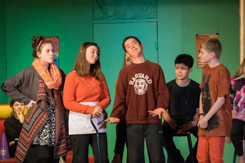 SUBMITTED PHOTO: ROBERT GRAY MIDDLE SCHOOL - Robert Gray Middle School actors performed 'Stage Fright' in mid-February.